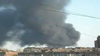 Пожар в аэропорту Донецка