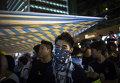 Сторонники протестного движения Occupy Central на митинге в районе Mong Kok в Гонконге.