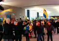 Курды в Брюсселе штурмовали здание Европарламента. Видео
