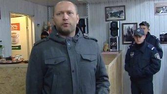 Правый сектор крушил игровые автоматы и забегаловки в Киеве. Видео