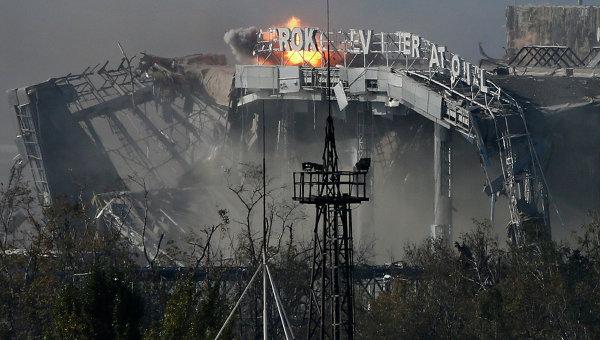 Ситуация в районе аэропорта Донецка. Архивное фото