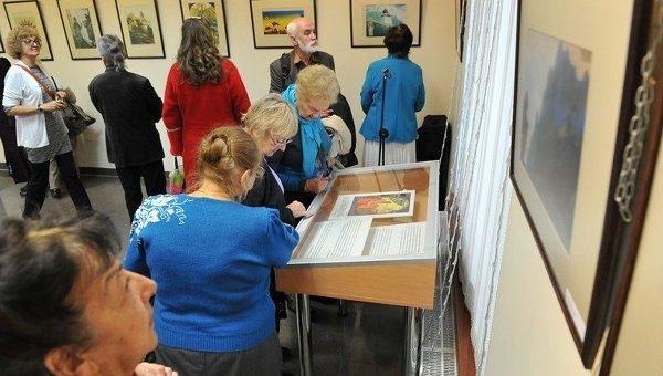 Выставка, посвященная художнику Рериху, в Киеве