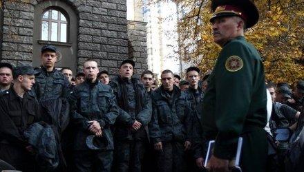 Митинг бойцов Нацгвардии возле администрации Порошенко