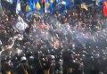 Столкновения с милицией под Радой. Видео