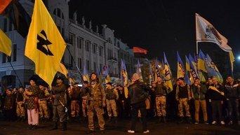 Марш в честь УПА в Харькове.Архивное фото
