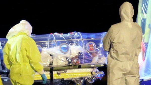 Больной Эболой. Архивное фото