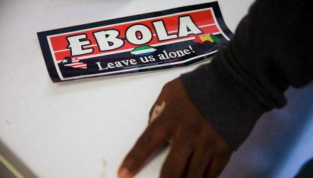 Наклейка на тему Эболы