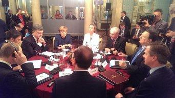 Встреча европейских лидеров, Петра Порошенко и Владимира Путина