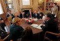 Вторая встреча Петра Порошенко, Владимира Путина и лидеров ЕС в Милане. Архивное фото