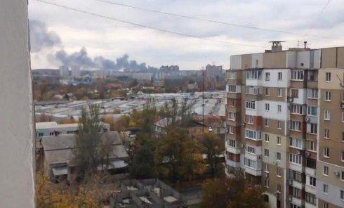 Обстрел Донецка. Видео