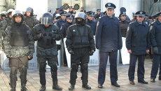 Милиция у здания Верховной Рады, 20 октября 2014