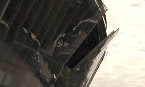 Донбасс Арена после обстрела 20 10 2014 Донецк. Видео