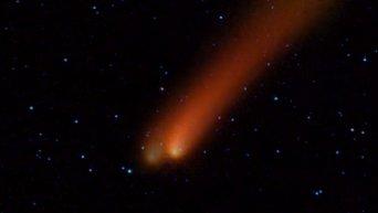 Комета прошла рядом с Марсом и движется к Солнцу. Видео