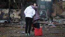 Донецк после обстрела. Архивное фото