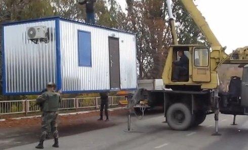 Пограничники занялись обустройством полосы безопасности на Донбассе. Видео