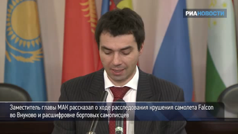 Зампред МАК РФ рассказал о расследовании крушения Falcon во Внуково. Видео