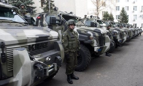 Нацгвардии передали 10 новых бронированных машин Spartan-aps