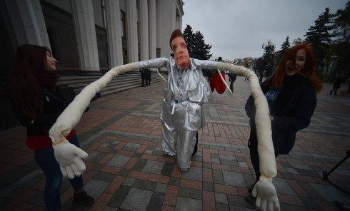 Антикоррупционная акция в Киеве