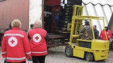 В Днепропетровск прибыли 5 грузовиков с гуманитарной помощью