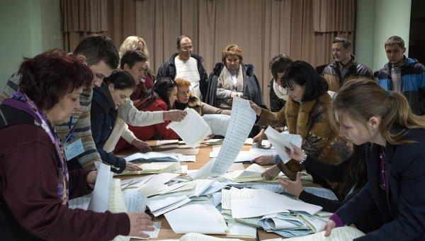 Подсчет голосов по результатам выборов в Верховную Раду