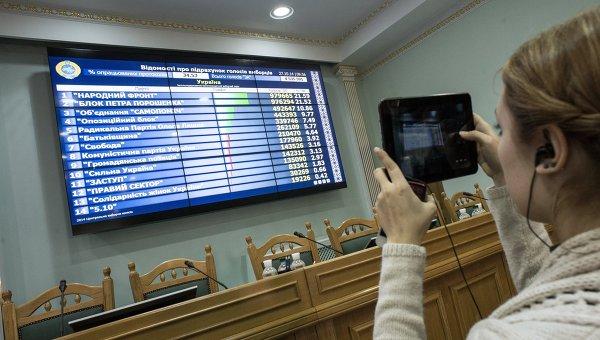 Объявление результатов досрочных выборов в Верховную Раду. Архивное фото