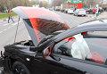 Nissan, авария, архивное фото.