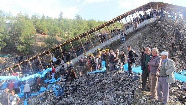 Обвал шахты в районе города Эрменек провинции Караман на юге Турции