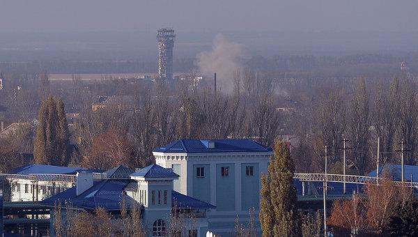 Здание аэропорта Донецка из Куйбышевского района города