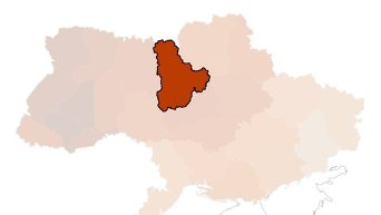 Интерактивная карта результатов выборов в Раду. Инфографика