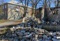 Разрушенные здания в Славянске