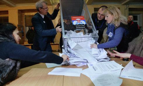 """Подчет голосов на выборах в """"ДНР"""""""