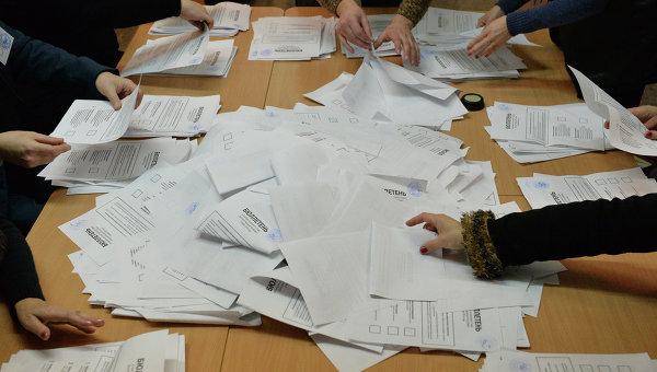Подсчет голосов на выборах в ДНР. Архивное фото