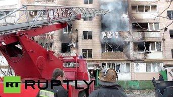 В Донецке снаряды попали на территорию института и рынка, четыре человека пострадали