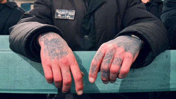 Заключенные в колонии строгого режима. Архивное фото