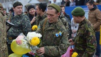 Возвращение украинских военных из зоны АТО