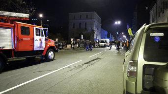 Последствия взрыва в ночном клубе Харькова