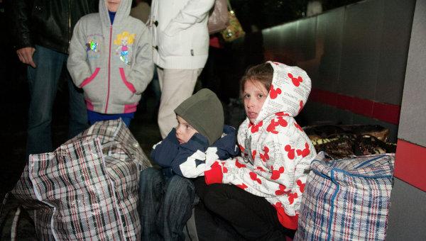 Беженцы из Украины. Архивное фото