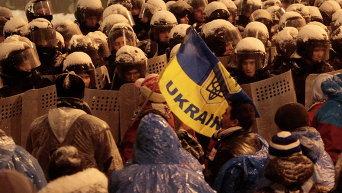 Противостояние Беркута и активистов Евромайдана
