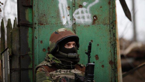 Украинский военный в селе Пески