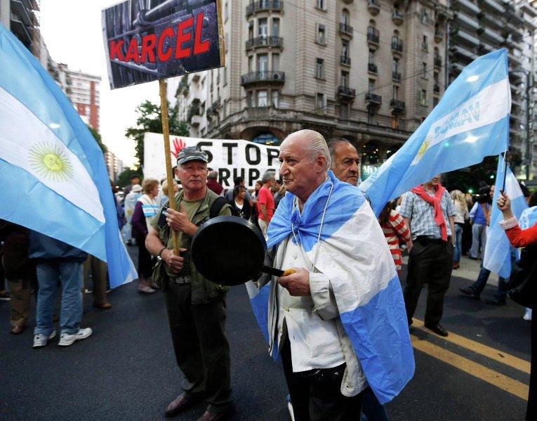 Антиправительственный митинг в Буэнос-Айресе (Аргентина)