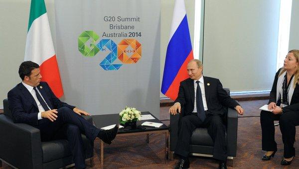 Ренци и Путин принимают участие в саммите Группы двадцати