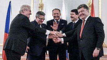 Петр Порошенко и главы стран Вышеградской четверки