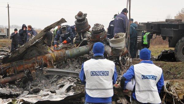 Голландские эксперты на месте падения малайзийского Boeing на востоке Украины