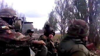 Бойцы Правого сектора в окрестностях Донецка