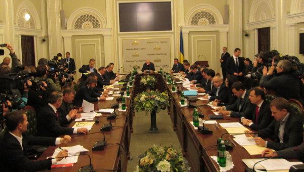 Первое заседание подготовительной депутатской группы по проведению первого заседания парламента восьмого созыва