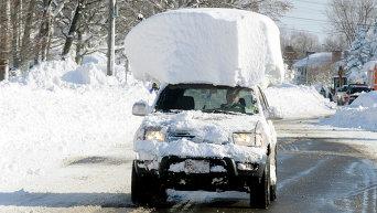Последствия снегопада в штате Нью-Йорк