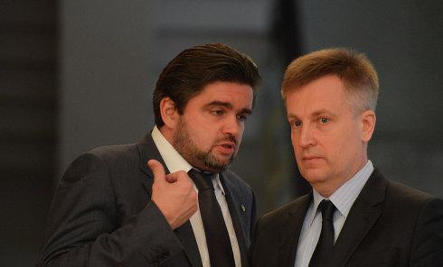 Советник главы СБУ Маркиян Лубкивский и глава СБУ Валентин Наливайченко. Архивное фото