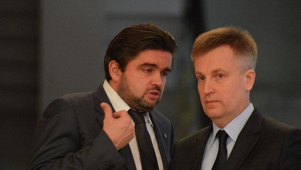 Советник главы СБУ Маркиян Лубкивский и глава СБУ Валентин Наливайченко