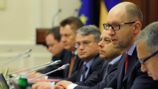Арсений Яценюк на заседании Кабмина. Архивное фото