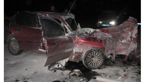 Разбитое авто под Полтавой